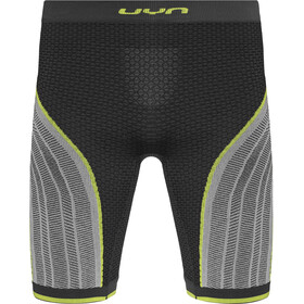 UYN Running Alpha OW Housut Shortsit Miehet, charcoal/pearl grey/yellow